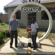 One of our staff helping out in Uganda.